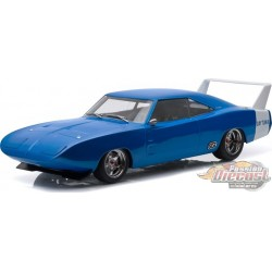 1969 DODGE CHARGER DAYTONA CUSTOM Blue with White Rear Wing