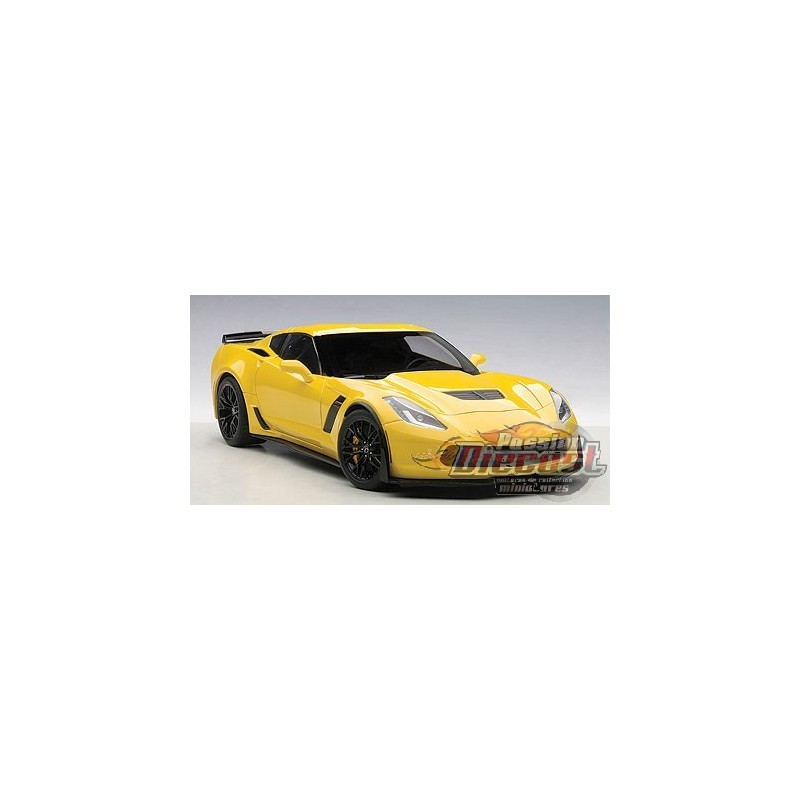 chevrolet corvette c7 z06 jaune passion diecast. Black Bedroom Furniture Sets. Home Design Ideas