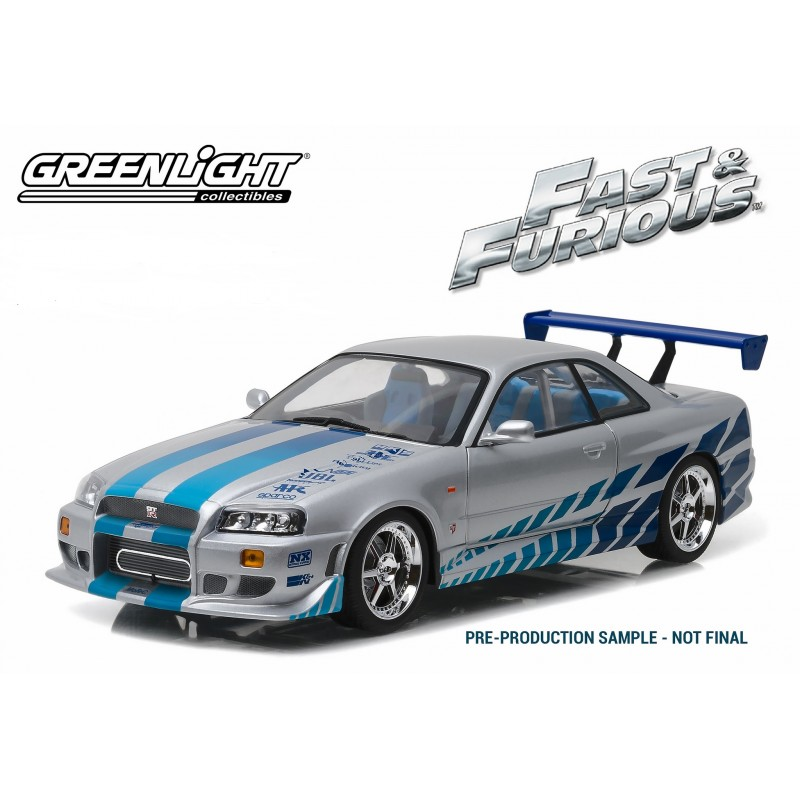 1999 nissan skyline gt r r34 2 fast 2 furious 2003 passion diecast. Black Bedroom Furniture Sets. Home Design Ideas