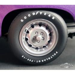 Dodge roues rally avec pneus