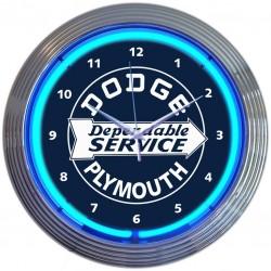 Horloge neon DODGE SERVICE