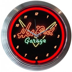 NEON CLOCK  Hot Rod Garage