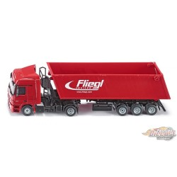 Lorry with tipping trailer