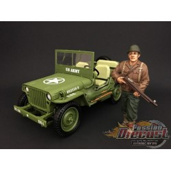 WW II  FIGURINE ARMY I 1/18