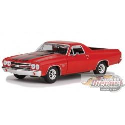 1970  Chevrolet  El Camino Red  Motormax 1/24 73336 Passion Diecast