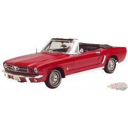 1964 1/2 Mustang  Convertible Red  - Motormax 1/18 - 75145 - Passion Diecast