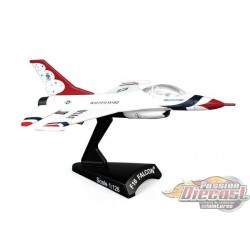 POSTAGE STAMP 1/126  PS5399-2  USAF THUNDERBIRDS F-16 FIGHTING FALCON Passion Diecast