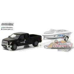 Hitch and Tow 10 - 2015 Ford F-150 w-Homeland Security Marine Enforcement Boat w-Trailer