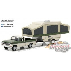 Hitch and Tow 10 - 1970 Ford F-100 w-Pop-Up Camper Trailer
