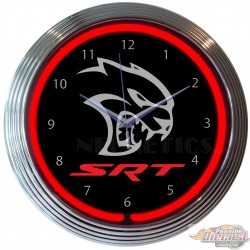 DODGE SRT HELLCAT Neon Clock