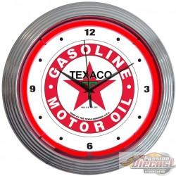 Horloge Neon TEXACO GASOLINE
