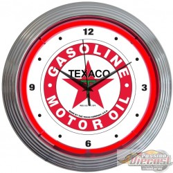TEXACO GASOLINE Neon Clock