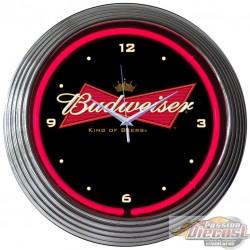 Horloge Neon Budweiser Bowtie