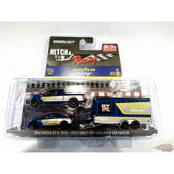 GreenLight 1/64 HITCH & TOW RACING - GOODYEAR - 2015 FORD F-150 & 2014 NISSAN GT-R