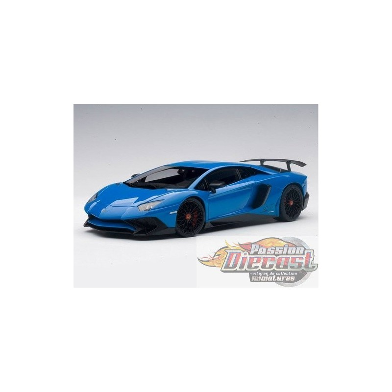 autoart 1 18 lamborghini aventador lp750 4 sv bleu. Black Bedroom Furniture Sets. Home Design Ideas