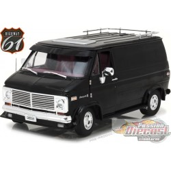 1:18 Highway 61 - 1:18 1976 Chevy G-Series Van - NOIR