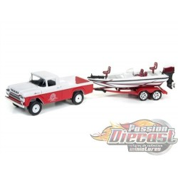 GONE FISHING SERIES 2 1959 FORD F-250 AVEC BATEAU & TRAILER ROUGE