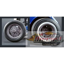 Altered Drag Wheel & Tire Pack - Finition au magnésium  ensemble de 4  roues