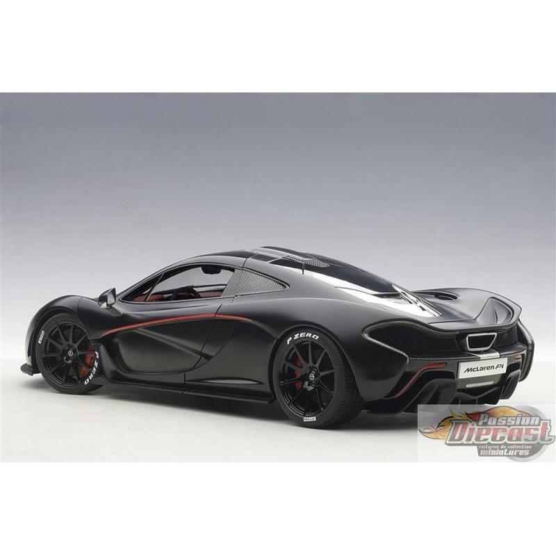 McLaren P1 Matt Black With Red Accents