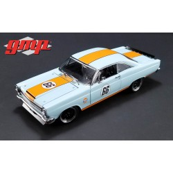 1966 Ford Fairlane - Gulf Oil - BLEU BANDES ORANGE