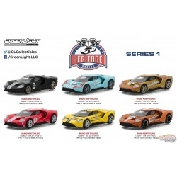 1/64 Ford GT Racing Heritage Series 1  assortment GREENLIGHT 13200 PASSION DIECAST
