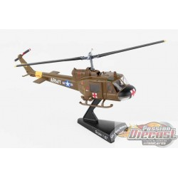 UH-1 HUEY MEDEVAC  US ARMY POSTAGE STAMP 1/87 PS5601-2  PassionDiecast
