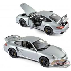 1/18 Porsche 911 GT2 2007 - Gris et roues noir 187594  Norev  passion diecast