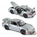 Porsche 911 GT2 2007 - Silver with black wheels    Norev 1/18  187594