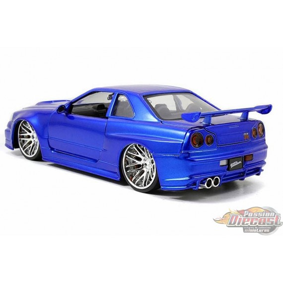 brian 39 s nissan skyline gt r r34 bleu. Black Bedroom Furniture Sets. Home Design Ideas