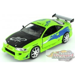 1/24 Brian's 1995 Mitsubishi Eclipse - The Fast and Furious 96703 Jada Passion diecast