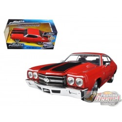 1/24 FAST & FURIOUS CHEVY CHEVELLE SS DOM ROUGE 97193 Jada Passion Diecast