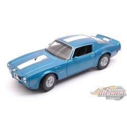 PONTIAC FIREBIRD TRANS AM 1972 Bleu  Welly 1/24 : WL-24075-BL  Passion Diecast