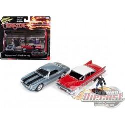 1/64 1958 Plymouth Fury & 1967 Chevrolet Camaro et  figurine JLDR001C Johnny lightning Passion Diecat