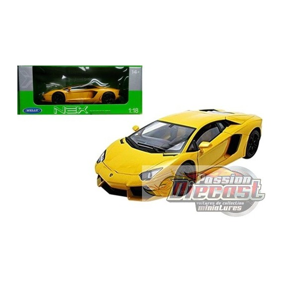 welly 1 18 lamborghini aventador lp700 jaune. Black Bedroom Furniture Sets. Home Design Ideas