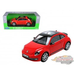 1/18 VOLKSWAGEN  NEW BEETLE 2012 RED WL-18042RD  WELLY PASSION DIECAST