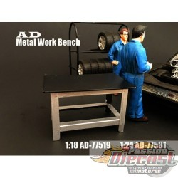 1:18 TABLE DE TRAVAILLE AD-77519  AMERICAN DIORAMA PASSION DIECAST