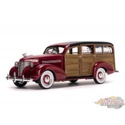 1/18 1939 Chevrolet Woody Surf Wagon  burgundy SS-6176 SUNSTAR PASSION DIECAST