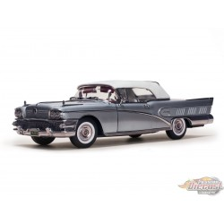 1958 Buick Limited Closed Convertible Silver Mist - Sunstar 1/18 - 4816 - Passion Diecast