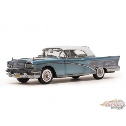1958 Buick Limited Closed Convertible Blue Mist -  Sunstar 1/18 - 4815 - Passion Diecast