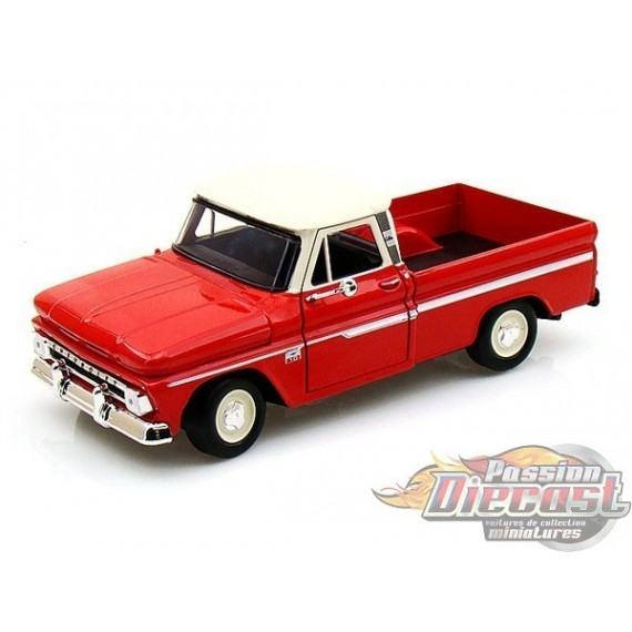 1/24 1966  CHEVROLET  C-10 PICK UP  ROUGE MMX-75555RD MOTORMAX PASSION DIECAST