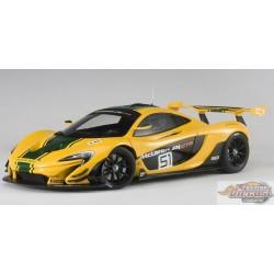 McLaren P1 GTR Yellow/ green stripe Autoart Signature  1/18 AA-81544   Passion Diecast