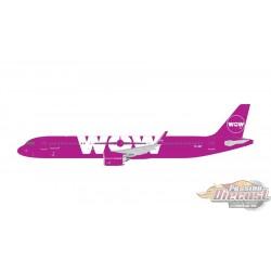 WOW AIR  Airbus A321neo   REG#TF-SKY Gemini Jets  1/400 GJWOW1686  Passion Diecast