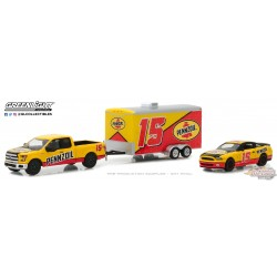 1/64 Racing Hitch and Tow 1 - 2015 Ford F-150 ET 2012 Shelby GT500 GL-31050C GREENLIGHT PASSION DIECAST