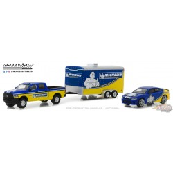 1/64 Racing Hitch and Tow 1 - 2017 Ram 2500 ET 2017 Dodge Charger HELLCAT GL-31050B GREENLIGHT PASSION DIECAST