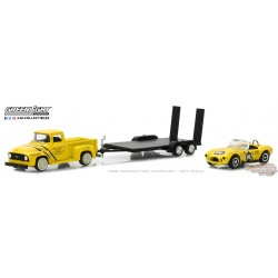 1/64 Racing Hitch and Tow 1 - 1954 Ford F100 ET 289 Cobra GL-31050A GREENLIGHT  PASSIONDIECAST
