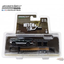 1/64 Hitch & Tow Series 12 - Remorque Ford Ford F-150 2016 et double axe GL-32120D GREENLIGHT PASSION DIECAST