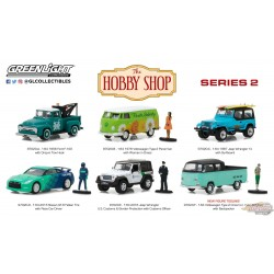 1/64 The Hobby Shop Series 2 Assortiment 97020 1/64 GREENLIGHT PASSION DIECAST