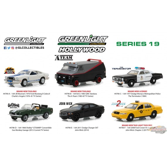 1/64 HOLLYWOOD SERIES 19 ASSORTIMENT GL-44790 GREENLIGHT PASSION DIECAST