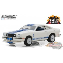 1/64 Hollywood 19 - Charlies Angels  1976 Ford Mustang Cobra II GL-44790A GREENLIGHT PASSION DIECAST