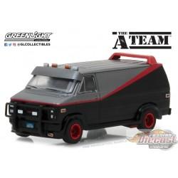 1/64 Hollywood 19 -The A-Team (1983-87 TV Series) - 1983 GMC Vandura GL-44790B GREENLIGHT PASSION DIECAST